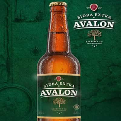 Sidra  extra Avalon, Botellin de 33 cl
